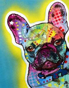 French Bulldog Wall Art - Painting - French Bulldog by Dean Russo Art French Bulldog Art, French Bulldogs, Dean Russo, Abstract Animals, Arte Pop, Dog Names, Animal Paintings, Oil Painting On Canvas, Bunt