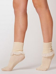 Girly Lace Ankle Sock | American Apparel