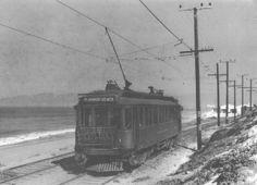 The Beach Trolley heads back to Playa del Rey! Inglewood California, Southern California, Los Angeles Area, Los Angeles Homes, California History, History Images, Los Angeles County, Historical Society, Santa Monica