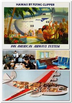 Cutaway Illustrations of Vintage Airplanes - Earthly Mission Vintage Travel Posters, Vintage Ads, Vintage Tiki, Airline Travel, Air Travel, Aircraft Interiors, Flying Boat, Vintage Airplanes, Commercial Aircraft