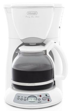 DeLonghi DC59TW 12Cup Digital Programmable Drip Coffeemaker White ** More info could be found at the image url.