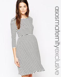 ASOS Maternity Skater Dress in Stripe