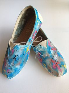 storm and quiet abstract hand painted toms by ArtfulSoles