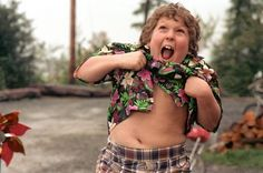 Chunk: You guys, I'm hungry. I know when my stomach growls there's trouble. (The Goonies)