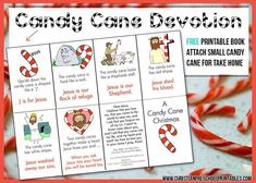 Each booklet is folded from a single sheet of paper, attach a small mini candy cane for a simple take home gift for children Preschool Christmas, Christmas Activities, Kids Christmas, Christmas Crafts, Christmas Printables, Christmas Devotions, Kids Devotions, Christmas Classics, Christmas Bible