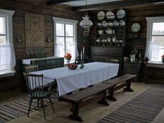 Wanha Tupa - Aitoja kokemuksia maatilalla - Ostrobothnia province of Western Finland. Swedish Interiors, Cottage Interiors, Br House, Country Interior, Old Farm Houses, Cottage Design, Winter House, The Ranch, Scandinavian Interior