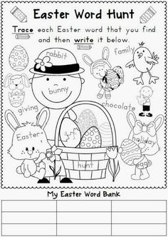 Easter ideas including Easter resource bundle for K-1