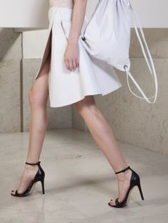 Light Grey Leather Skirt   Jovana Markovic   Shop   NOT JUST A LABEL