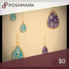 💜 COMING SOON 💜 Rock Crystal Teardrop Earrings Should arrive in about a week! Will be priced @ $28, and my listing will be updated with more photos and details. Please LIKE this listing to be tagged when it goes live! 💙💜💙💜 Aqua blue or purple genuine rock crystal earrings. 18k gold-plated metal. NO nickel or lead in the metal. PLEASE READ: OFFERS will be IGNORED for BOUTIQUE items. You can still get a bundle discount by purchasing multiple items, AND you can still like the listing to…