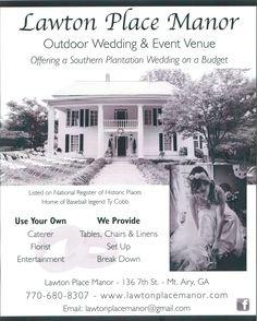 Affordable Georgia wedding venue.