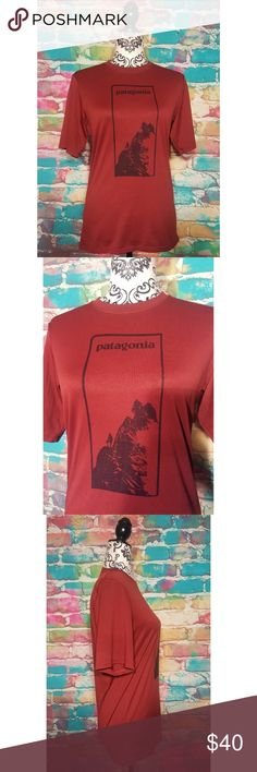 Patagonia t-shirt RARE mountain graphic Rust tee Patagonia t-shirt RARE mountain graphic Rust tee Men's small Color Rust  Rayon /Polyester Blend  Excellent pre owned condition Patagonia Shirts Tees - Short Sleeve
