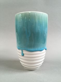 Lynda-Anne Raubenheimer - porcelain cylinder with my favorite glaze