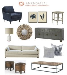 I am really loving the blues with all the weathered woods, leather and metal accents.