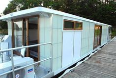 This MetroShip Luxury Houseboat by Ballinger & Co. is being offered as one of this year's fantasy gifts from Neiman Marcus. His & Hers versions for $250,000