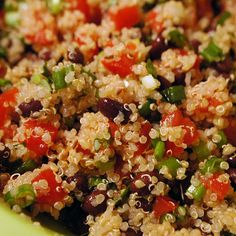 Black-Bean and Tomato Quinoa Salad Recipe