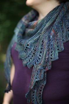 Close To You by Justyna Lorkowska knitted by malabrigo Arroyo in Pocion. Knit Or Crochet, Lace Knitting, Crochet Shawl, Knitting Stitches, Small Knitting Projects, Knitting Designs, Knitting Patterns Free, Knitting Ideas, Free Pattern