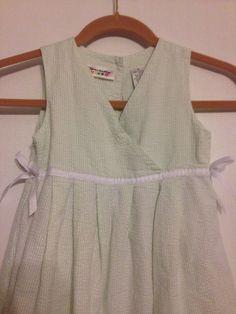 Specialty girl  lime green & white fully lined  w/white ribbon Dress Size 5 #SpecialtyGirl #DressyEverydayHolidayWedding