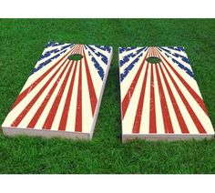 Custom Cornhole Boards Star Spangled Cornhole Game Set Bag Fill: All Weather Plastic Resin, Size: H x W Backyard Games, Outdoor Games, Lawn Games, Garden Games, Outdoor Fun, Cornhole Designs, Custom Cornhole Boards, Building Cornhole Boards, Cornhole Game Sets