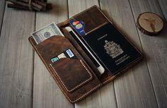 40% Off Leather iPhone 6 Case Leather Wallet Air von CPScraftStudio