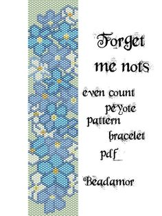 Peyote Pattern for bracelet: Violets- INSTANT DOWNLOAD pdf