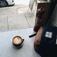 Coffee and Herschel Supply <3