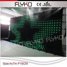 Commercial Lighting Stage Lighting Effect Pc Controller Led Soft Curtain Display Led Cortinas Led Video Curtain In Short Supply Free Shipping
