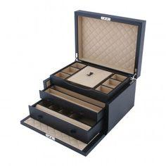 Smythson, 3 drawer jewelry box.