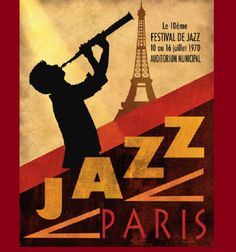 Fantastic, Jazz festival in Paris. Nostalgic poster.