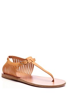 76f463902f878 Leather Thong Cage Sandals by Ancient Greek Sandals - Moda Operandi Caged  Sandals