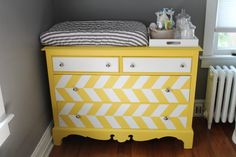 Turn a dresser into a baby changing table with this easy DIY project. We love how easy it is to customize any dresser, plus it's something that can grow with your child.