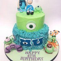 Monsters Inc Birthday Cakes | monsters inc' cakes, cupcakes and cookies @ CakesDecor.com - cake ...