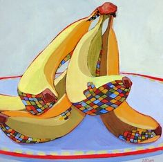 Contemporary still life painting of bannans by Carolee Clarke