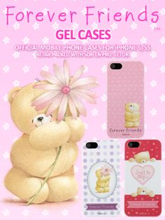 IPhone 5/5s Forever Friends cases. The world's most famous and original cute bear comes to life as irresistible gifts of love and friendship for any occasion. This Forever Friends Gel Case features the original cute bear.
