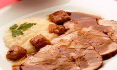 Receta de Jamón fresco asado con puré de nabos