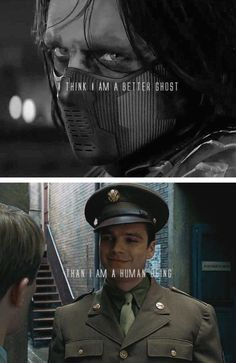 Bucky Barnes | NO NO NO THAT'S NOT TRUE BUCKY YOU'RE A HELL OF A HUMAN BEING DON'T LISTEN TO THEM BUCKY NO