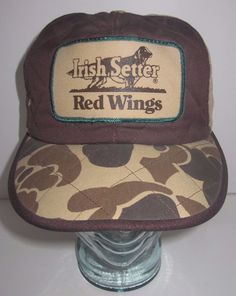 34cd8a484f2 VTG Irish Setter Red Wing Thinsulate Hat Cap Camouflage Hunting Ear Flaps  Large