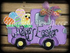 Easter Truck Door Hanger by UniquelyUrsDecor on Etsy