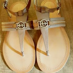 aba633dc6 Shop Women s Tommy Hilfiger Tan size 8 Sandals at a discounted price at  Poshmark. Description  Womens US 8 NWOT.