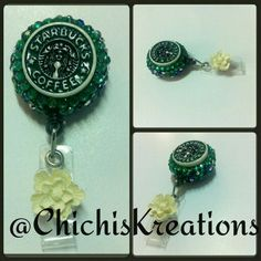 Starbusks badge reel  Avaiable at www.etsy.com/shop/chichiskreations