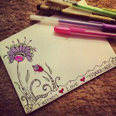 @jennscalligraphy   Envelope artwork! Adds pizzazz! #artwork #color #envelope   Webstagram - the best Instagram viewer