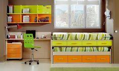 Muebles prácticos para una habitación compartida