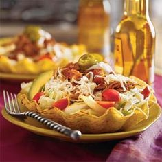 """Chalupa Dinner Bowl...this looks like it will """"hit the spot."""" Great reviews...a recipe I will try in my crock pot real soon!"""