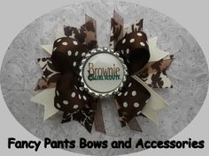 Brownie Girl Scout Hairbow. $4.00, via Etsy.