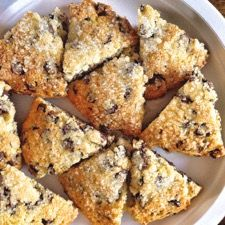 """Chocolate chips make EVERYTHING better, and scones are no exception! These rich, tender scones aren't overly sweet, allowing the flavor of dark chocolate to shine through. Serve them as is, or spread with raspberry or apricot jam for one of those """"big sigh"""" moments.   For ultra-tender texture, we like to use one of our lower-protein pastry flours in these scones. Use all-purpose if that's what you have; the dough will be a bit stiffer. Scones will still be tasty, just not quite so..."""