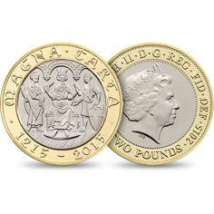 Anniversary of Magna Carta 2015 UK Bullion Coins, Gold Bullion, Us Coins, Rare Coins, English Coins, Rare Pennies, Canadian Coins, Magna Carta, Old Money