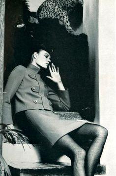 Photo by Helmut Newton for Yves Saint Laurent, 1966. #NMFallTrends