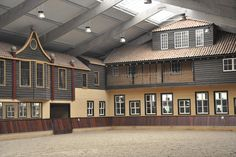 Unique indoor riding arena, the Netherlands.