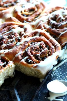 They Called It The Diamond Blog: Christmas Spiced Chestnut Cinnamon Buns & Cream Cheese Frosting