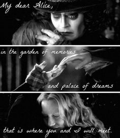Alice and Tarrant by Arthatter on DeviantArt I did a little edit about Alice through the looking glass. And I'm crying again and I have never cried so much when watching a movie scene for or Alice and Tarrant New Quotes, Movie Quotes, Book Quotes, Life Quotes, Inspirational Quotes, Qoutes, Mad Hatter Zitate, Johnny Depp, Citations Disney
