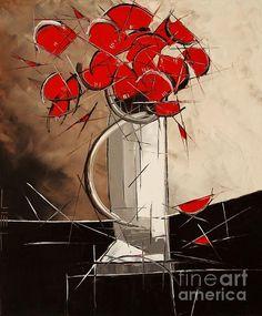 Atelier De Jiel - Red Poppies Abstract